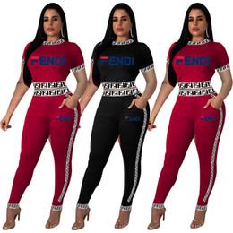 al por mayor leggings conjunto Rebajas Mujeres 2 unidades conjunto deportivo chándal gimnasio cuello redondo manga corta crop top camiseta leggings pantalones bodycon ropa de verano más tamaño al por mayor 192