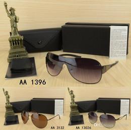 Wholesa Sale Top Quality grandes marques Pilot Design hommes femme lunettes de soleil avec boîte de lunettes cadre unique en métal Vintage Big-Frame lunettes ? partir de fabricateur