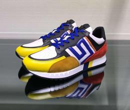 2019 chaussures de baskets à la mode 2019 nouveau design mode marque de luxe hommes baskets vente chaude chaussures de sport en cuir véritable lace up sneakers taille: 38-44 promotion chaussures de baskets à la mode