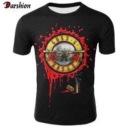 Футболка с тремя розами онлайн-2019 новинка 3D футболка мужчины розы и пистолеты футболка с коротким рукавом Мужчины / Женщины Guns N Roses одежда футболка Футболка Майка Оптовая торговля