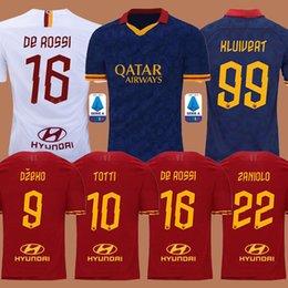 2019 camiseta de fútbol roma Tailandia DZEKO PEROTTI PASTORE ZANIOLO camiseta de fútbol 2019 roma TOTTI Jersey 19 20 camiseta de fútbol kit DE ROSSI 2020 maillot de pie roma camiseta de fútbol roma baratos