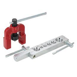 6 kit di strumenti di svasatura per tubi di tubi per fustelle Kit di estensione del metallo per la lavorazione del legno Tubi di svasatura per tubi del freno ad aria da
