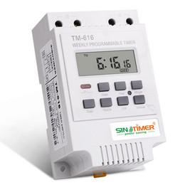 temporizador de calidad Rebajas DHL 100 unids alta calidad 30AMP Semanal Programable Digital INTERRUPTOR DE TIEMPO Relay Timer Control 220 V Din Rail Mount