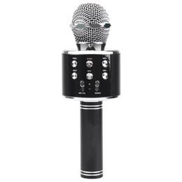 alto-falantes de karaoke Desconto Karaoke Microfone Sem Fio Bluetooth Karaoke Ws858 Portátil Handheld Karaoke Mic Speaker Máquina Cantando Hospedagem Ktv Ws 858 B