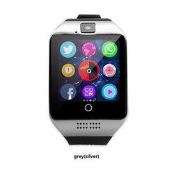 2019 apro smart watch Для Iphone 6 7 8 X Bluetooth Smart Watch Apro Q18 спорт мини-камера для Android iPhone Samsung смартфоны GSM SIM-карты сенсорный бесплатный DHL. скидка apro smart watch