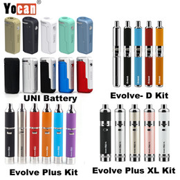 Vaporisateurs atomiseurs pour herbes sèches en Ligne-Authentic Yocan UNI 650mAh Box Mod Vw à tension variable Evolve-D Evolve Plus XL Vaporisateurs de cire Kit Atomiseurs de cire à l'huile épaisse
