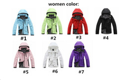 Blusa windstopper on-line-Outdoor Mulheres Softshell Jacket The North Windbreaker Designer Brasão Outwear Zipper revestimentos encapuçados face WindStopper sportswear Marca Top B2281