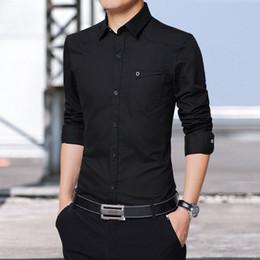 508aa238a3 2019 camisa caqui Camisa de hombre para hombre de manga larga Slim fit  camisa masculina Khaki