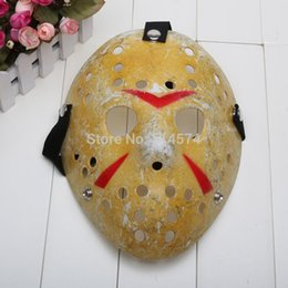 Wholesale-10pcs / ot Jason Voorhees Jason vs Freddy Hockey Festival-Parteischablone Killer Maske Halloween Maskerade Maske von Fabrikanten