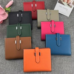 dólar moda designer bolsas Desconto 2019 nova fábrica de produção da marca mulheres carteira mulheres bolsa de couro curto embreagem carteira de couro mulheres saco de dinheiro garantia de qualidade