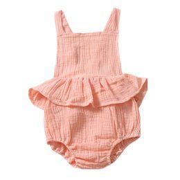 INS blanc bébé filles barboteuses robes incontournables Bodys Filles infantile Body une pièce sans manches Toddler Blackless Girls Jumpsuit ? partir de fabricateur