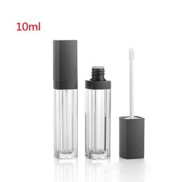 2020 leere lipgloss-behälter 10ml durchsichtigem Kunststoff Leer Lipgloss Tubes Container DIY Makeup Tools kosmetische Lippen Glaze nachfüllbar Paket Flasche günstig leere lipgloss-behälter