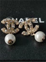 2019 marchio di perle migliori con la scatola di nuovi orecchini di perle 2019 diamanti per le signore, stile classico da marchi di moda, migliore regalo per le signore, marchio di perle migliori economici