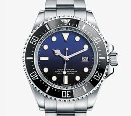 2019 movimentos automáticos do relógio Novo Luxo SEA-DWELLER D-azul 44mm Mens Watch Movimento Automático Cerâmica Bezel Safira Homens Relógios DEEP Relógios de Pulso btime movimentos automáticos do relógio barato