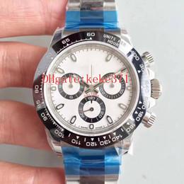 Schweizer chronograph automatisch online-5 Farbe N Fabrik 904L Stahl Schweizer CAL.4130 Chronograph Arbeiten 40mm Cosmograph 116506 116520 116500 Keramik Automatische Herrenuhr Uhren