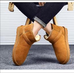 Baskets hautes femmes en Ligne-Nouvelles femmes bottes marron marron noir bottillons hiver gris bottes chaudes de la cheville au genou confortables appartements de haute qualité sneakers 36-45
