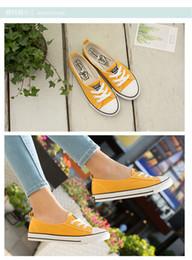 Zapatos de lona plimsolls online-Girls Boys Low Top Canvas Sneakers Summer Walking Shoes Moda Casual con cordones Low-cut Sports Shoes Transpirable Runnng Plimsolls 35-40 2 PA