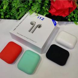 2019 microphone sans fil i12 tws bluetooth 5.0 sans fil bluetooth casque ture stéréo écouteurs écouteurs sans fil casque avec touche pour iphone samsung