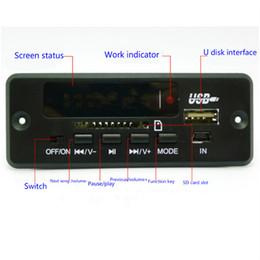 módulos de fonte de alimentação Desconto Multi-função Car MP3 Bluetooth Decodificador Board 5 v / 12 v PCBA Módulo de Áudio para Carro Remoto Música Speaker USB Power Supply