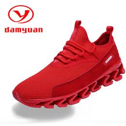 zapatillas de hoja Rebajas Blade Shoes Plus Size Men's Shoes 47 Entrenamiento de malla transpirable 46 Nuevo estilo de 2019 Pure Color Casual