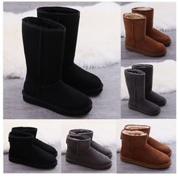 HOT Schnee Aufladungen WGG Winter Australien klassische Knie Stiefelette hohe Stiefel aus echtem Leder Bailey Bowknot Frauen der Vorburg Bogen