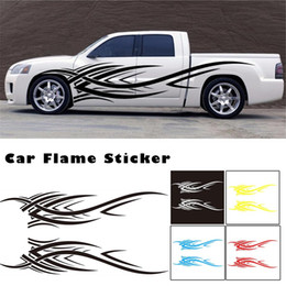 2019 pegatina de fuego Universal Fashion Car Sticker Decals Fire Flame Decoration Stickers para todo el cuerpo del automóvil pegatina de fuego baratos
