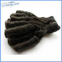 new machine curls hair Coupons - Clearance double drawn fumi hair new loose curl one pcs 10inches 100g deal for summer popular for beauty ladies natural black color