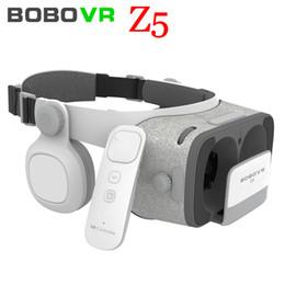 Gläser online-NEUE globale Version BOBOVR Z5 Virtual Reality Headset VR Box 3D Brille Karton für Daydream Smartphones Komplettpaket + GamePad