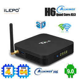 Android 9.0 TV Box TX6 4GB 32G 64GB Dual WiFi Allwinner H6 Quad Core USB3.0 BT Смарт Set Top Box TV от Поставщики tv box 4gb