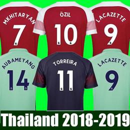 1eb4a5908a9 Top Thailand Football Kit Soccer Shirt Arsenal Soccer Jersey 2018 2019  AUBAMEYANG MKHITARYAN OZIL JERSEY 18 19 LACAZETTE XHAKA TORREIRA