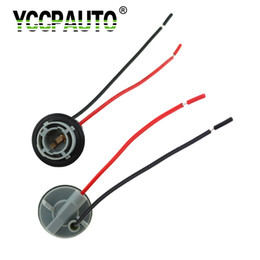 Douille d'ampoules en plastique en Ligne-YCCPAUTO 1156 BA15S Support de Lampe Ampoules Adaptateur Base Socket Led Lumière En Plastique De Voiture Accessoires Connecteur 2 PCS