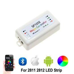 controlador SP105E RGB Bluetooth WS2811 WS2812B ws2812 levou dimmer SK6812 RGB RGBW APA102 WS2801 pixels Led Faixa iOS Android de Fornecedores de 12v led push button