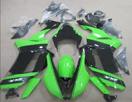 кавасаки zx6r частей Скидка 3Gifts Новые запчасти для мотоциклов ABS Обтекатели, подходящие для 07 08 ZX 6R 636 2007 2008 Kawasaki Ninja ZX6R ZX636 600cc Обтекатель Racing green черный