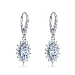 pratos china coreia Desconto Certificado de Jóias Finas Brincos de Prata Esterlina S925 diamante de Luxo Brincos Mulheres presente de casamento