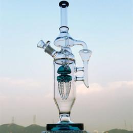 Estrangeiro de petróleo on-line-20 polegada de altura grande bongo Alien Lula 4-Braço Tentáculo Quádruplo Reciclador de câmara de vidro tubo de água dab equipamento de petróleo grande e grosso bongo de água de vidro