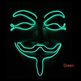 Cadılar bayramı yeni makyaj parti yüz maskesi V-şekilli ışık maskesi serin moda korku renk çeşitliliği nereden