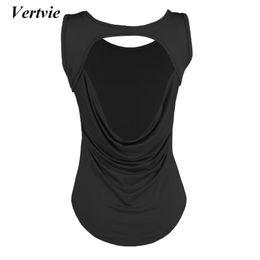 8db5dc5005c9c1 Vertvie Woman Gym Shirt Open Back Sport Yoga Top For Women s Sweatshirt  Sports T-shirt Women Fitness Wear Female Workout Tops affordable open back  shirts ...