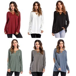 Camicie a doppio petto online-T-shirt M121 a collage con bottone a doppia fila di grandi dimensioni