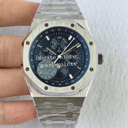 Moonphase orologi automatici online-Orologi da uomo Uomo Automatic Cal.5134 Orologio da uomo Moonphase Display Day Time 26574ST Bracciale in acciaio Royal 26597 Date 41mm JF Wristwatches