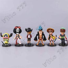 Nami brinquedos on-line-6pcs Anime PEÇA SÓ Luffy Nami Sanji Zoro Lei Sabo / set 6Styles 8CM bonito Figuras PVC onepiece modelo brinquedos boneca