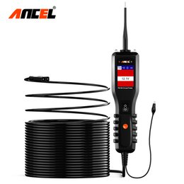 2019 testador de sonda de potência ANCEL PB100 Testador de Bateria de Carro 12V / 24V Power Probe Circuit Tester Circuito Elétrico Sistema Elétrico Bateria Scanner Automotivo desconto testador de sonda de potência