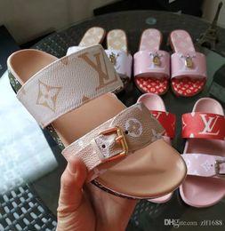 2019 одежда из резины 2019 Новый бренд дизайнер люкс флип-флоп дамы летние резиновые сандалии пляжная обувь модная одежда тапочки Louis обувь l v дешево одежда из резины
