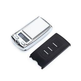 alimentos dietéticos Desconto Novo design de luxo de bolso balanças digitais para jóias com diamantes de ouro equilíbrio de peso presentes de natal projeto chave do carro 0.01g acessórios de fumar