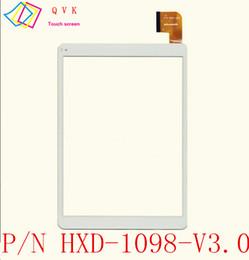 Tableta de 9,7 pulgadas de color blanco online-Blanco 9.7 pulgadas para ARCHOS 97C PLATINO tablet pc pantalla táctil capacitiva panel digitalizador de vidrio Envío gratis P / N HXD-1098-V3.0