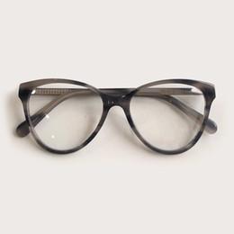 großhandel runde bilderrahmen Rabatt 2019 mode frauen cat eye brillen rahmen männer optische glasse rahmen retro brillen verschreibungspflichtige transparente gläser