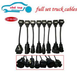 2020 diagnóstico de camión multidiag Envío libre 8pcs conjunto completo de cables de camiones de obras en el cable de camiones herramienta de diagnóstico vd tcs CDP Pro multidiag en stock diagnóstico de camión multidiag baratos