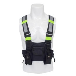 Сумки для бедер онлайн-Chest Rig Kanye West Waist Pack Chest Bags Fashion oxford adjustable Black Vest Hip Hop Streetwear Functional Tactical Harness