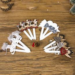 Santa decorado árboles de navidad online-Christmas Cake Topper Picks DIY Christmas Christmas Tree Santa Claus Cake Insert Cards Decoración Decoración Herramientas Navidad