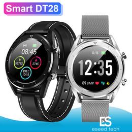 DT28 Erkekler Akıllı İzle IP68 Su Geçirmez Izle Mobil Ödeme EKG Nabız Spor Izci Bileklik Akıllı Bant Spor Kol Saati cheap apple mobile rate nereden elma mobil hızı tedarikçiler