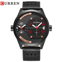 curren fashion watch Rabatt Fashion Marke CURREN Geschäfts-Armbanduhr-beiläufige Quarz-Herrenuhr Lederband Uhr Relogio Masculino Horloges Mannens Saat